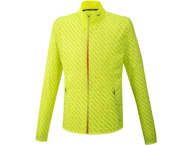 Mizuno Reflect Wind Jacket Men safety yellow